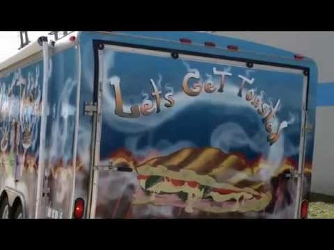 Food Truck Trailer Wrap Graphics West Palm Beach Florida  for Get Toaste…