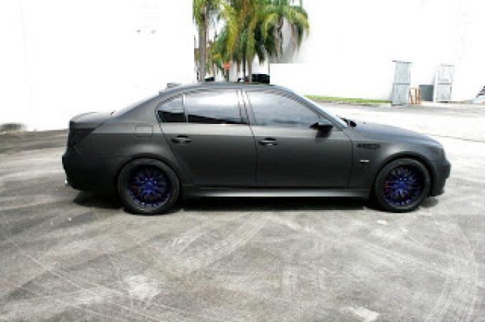 Matte Black Bmw >> Bmw M5 Matte Black Car Wrap Coral Gables Florida