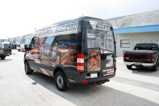 Mercedes Sprinter Van Vehicle Wrap Jupiter Florida for Twin Eagles Barbecue & Palm Coast Sales