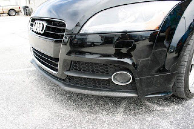 Audi TT Spoiler Wrapped in Carbon Fiber Miami Florida using 3M Scotchprint 1080 Carbon Fiber Wrap Vinyl