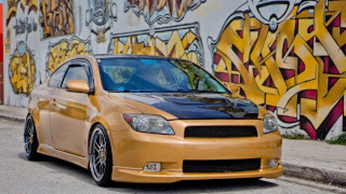 Scion Tc Custom Car Wrap Miami Florida 3M Scotchprint 1080 Glossy Gold Vinyl