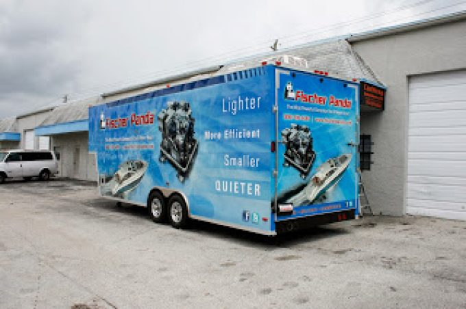 Trailer 3M Vinyl Wrap Graphics Fort Lauderdale Florida | Fischer Panda
