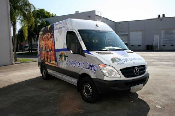Mercedes Benz Sprinter Van Vehicle Wrap Fort Lauderdale Florida by 3M Preferred Certified Car Wrap Solutions