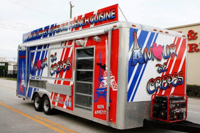 Food Truck Concession Trailer Vinyl Wrap Fort Lauderdale Florida