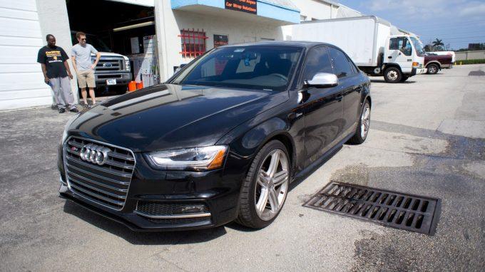 Audi Black Wrapped Window Trim Shadowline Miami Florida