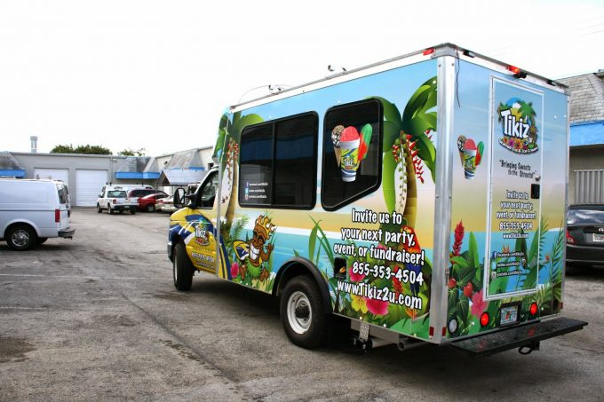 Fort Lauderdale Custom Food Truck Vinyl Graphic Wrap