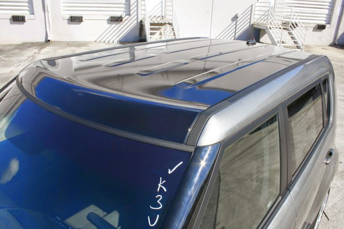 Kia Soul Vinyl Panoramic Roof Wrap & Vinyl Rally Stripes Miami Florida
