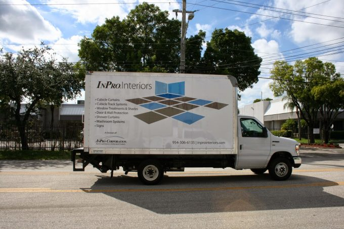Surnrise Florida Commercial Box Truck Vinyl Vehicle Wrap Marketing