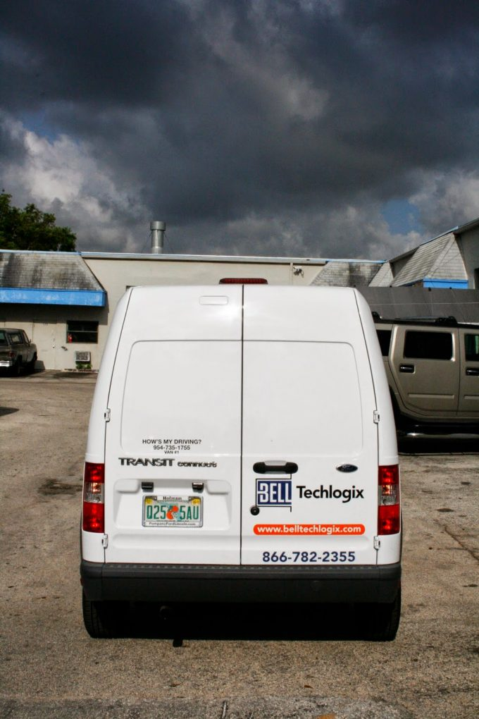 New Vinyl Lettering & Vinyl Graphics | Fort Lauderdale Florida | Ford Transit Connect Van