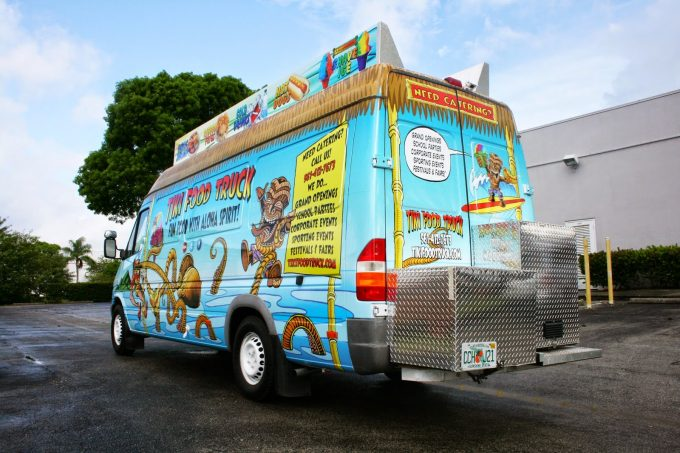 Sprinter Van Food Truck Vinyl Vehicle Wrap Lake Worth Florida