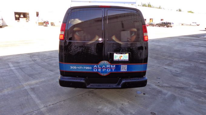 Chevrolet Commercial Van Vinyl Wrap Graphics Miami Florida | Security Company Vehicle Wrap