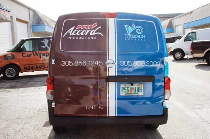 Miami Nissan NV 200 Van Vinyl Vehicle Wrap Graphic Design, Van Wrap Printing & 3M Certified Van Wrap Installation