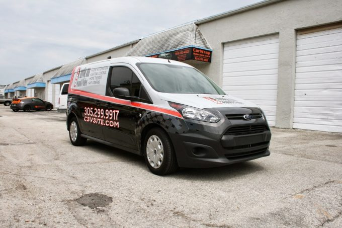 Miami Florida New Ford Transit Connect Commercial Vehicle Van Wrap Graphic Design, Vehicle Wrap Printing & 3M Certified Installation