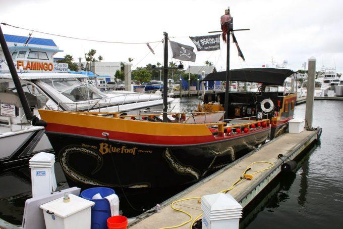 Custom Graphic Design Boat Graphics Fort Lauderdale Florida | Bluefoot Pirate Adventures