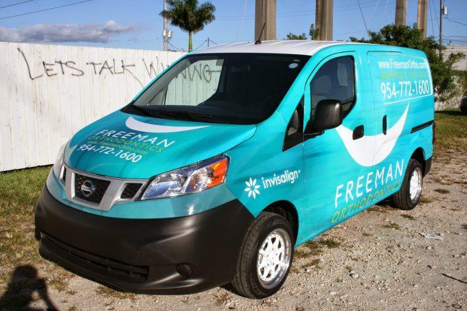 Nissan NV 200 Vinyl Wrap Fort Lauderdale Florida | Orthodontics Car Wrap