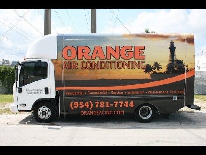 Air Conditining HVAC Vinyl Vehicle Wrap Fort Lauderdale Florida | Orange Air Conditioning