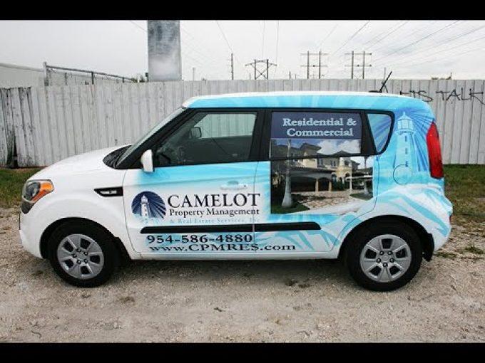 Pompano Beach Kia Soul Car Wrapping, Graphic Design & 3M Preferred Graphic Installation.