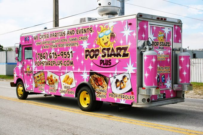 image about Printable Vinyl Wrap named Miami Florida Foodstuff Truck Wraps Graphics, Structure Vinyl