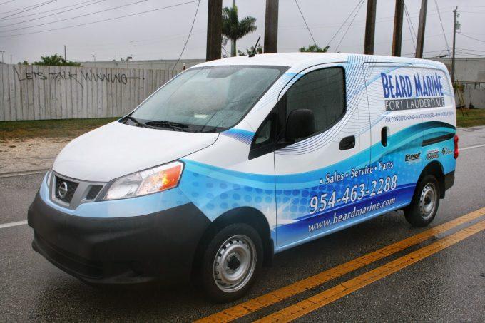 Davie Florida Nissan NV 200 Commercial Cargo Van Wraps | 3M Certified Installer Car Wrap Solutions