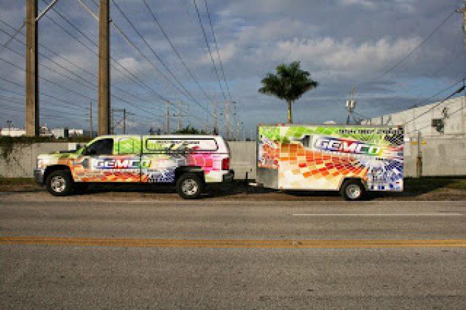 Commercial Trailer Vinyl Wraps, Graphics & Lettering Davie Florida