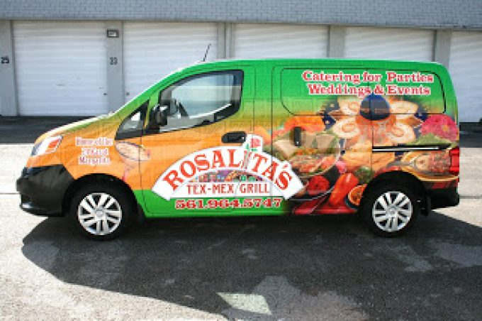 West Palm Beach Nissan NV Commercial Cargo Van Vehicle Wrap | Rosalita's Tex Mex Grill Restaurant