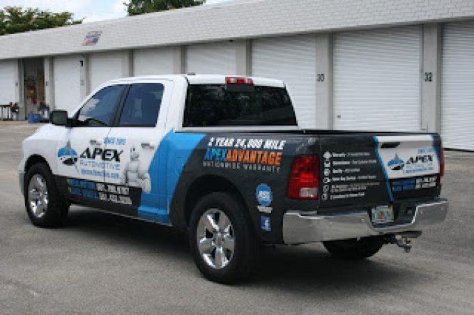 Dodge Ram Truck Vehicle Wrap Wellington Florida for Apex Automotive