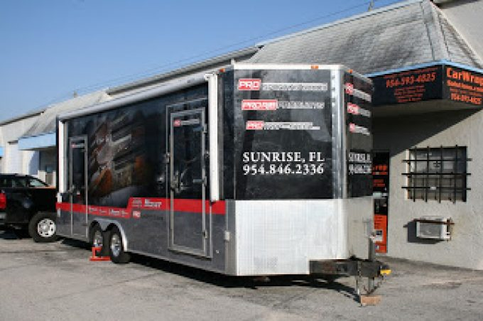 Davie Florida Custom Trailer Vinyl Wraps & Graphics for Advertising & Marketing