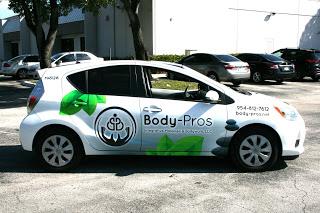 Fort Lauderdale Florida Car Wrap Marketing   Massage Therapist Car Wrap