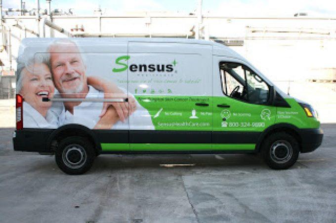 Ford Transit Passenger Van Wrap Advertising Boca Raton Florida | Sensus Healthcare