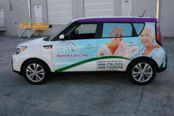 Kia Soul Car Wraps & Graphics Sunrise Florida for Home Health Care Business