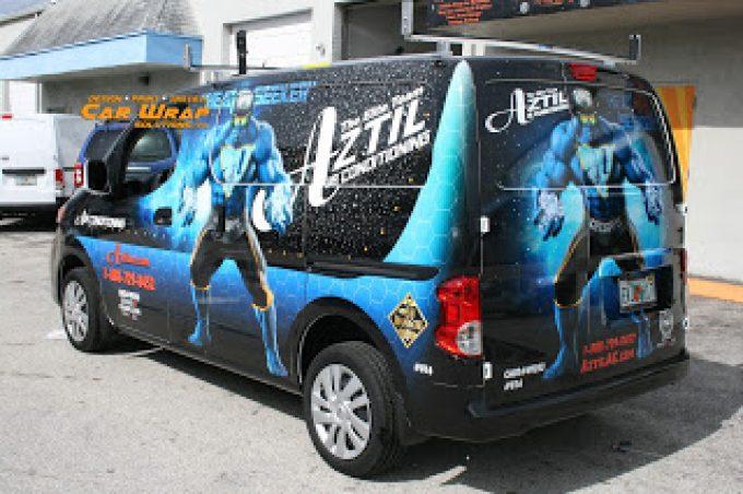 Air Conditioning Company Car Wrap Design & Digital Print West Palm Beach Florida