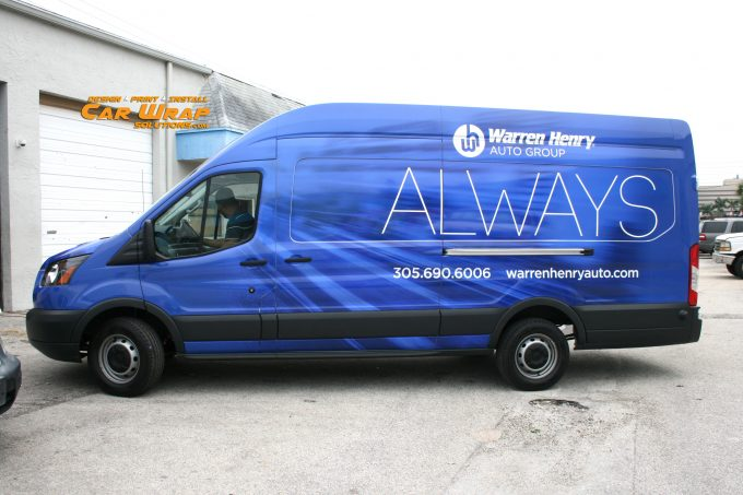 Ford Transit Commercial Van Wrap Advertising Davie Florida | Warren Henry