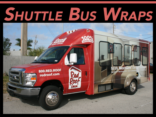 Shuttle Bus Vinyl Wraps & Vinyl Graphics