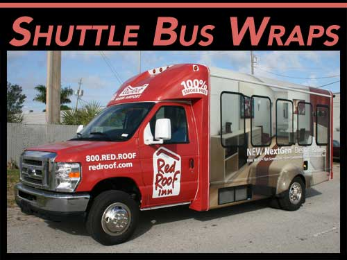 Fort Lauderdale, Miami, West Palm Beach, FL Vinyl Shuttle Bus Wraps