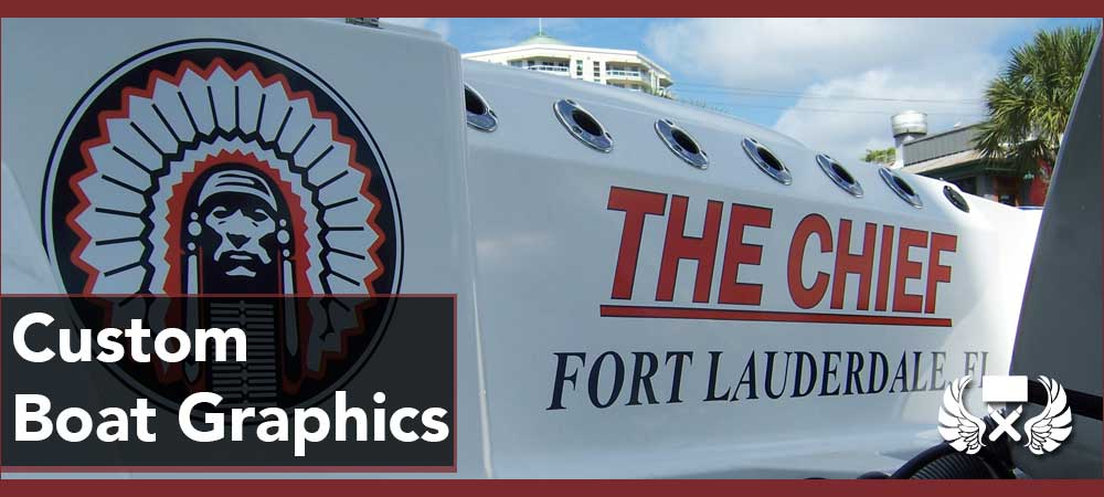 custom boat yacht wraps fort lauderdale boat lettering
