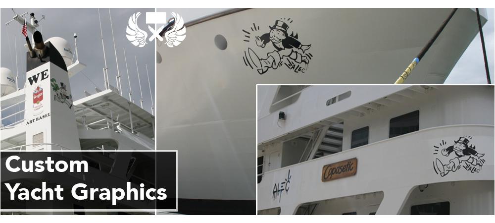 Marine Boat Yacht Wraps Fort Lauderdale Florida Yacht Signs - Custom vinyl decals miami