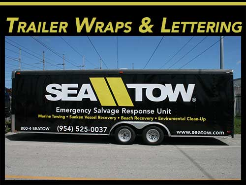 Fort Lauderdale, Miami, West Palm Beach Trailer Vinyl Wraps, Lettering, & Graphics