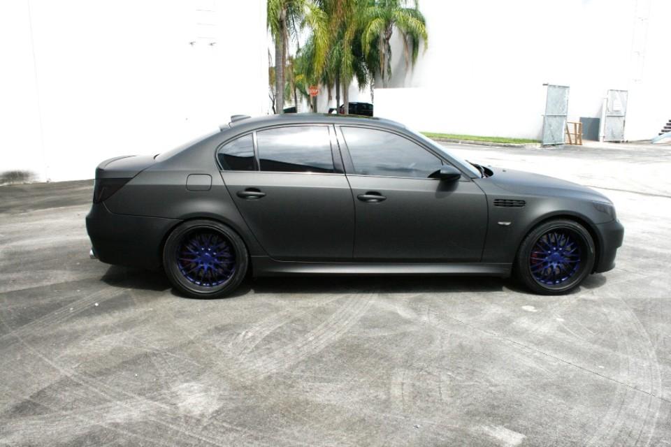 Matte Black BMW >> Bmw M5 Matte Black Car Wrap Miami
