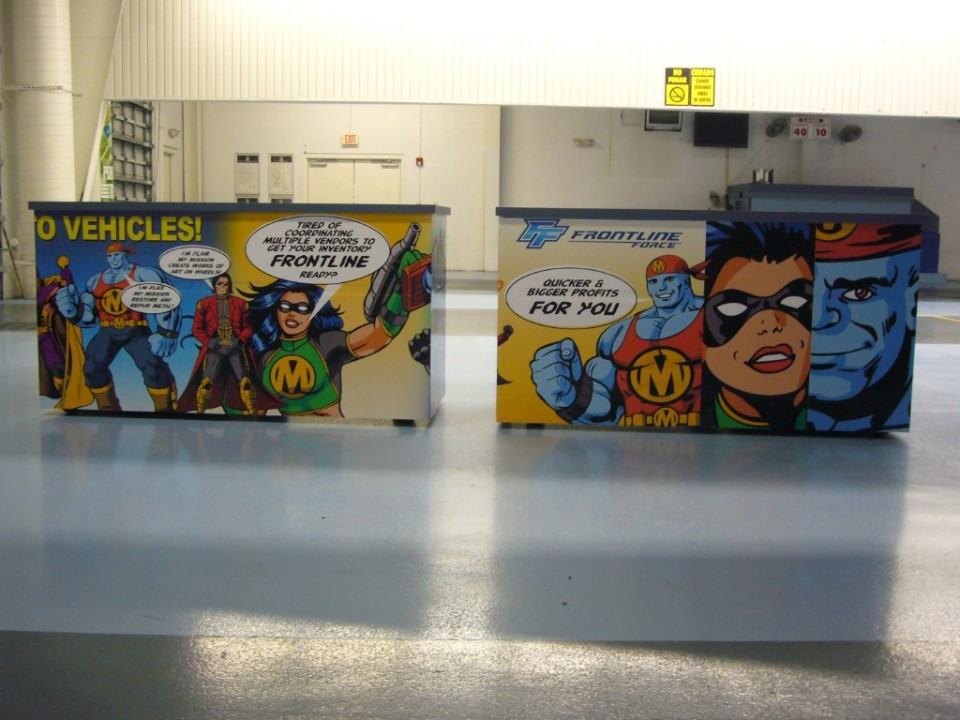 kiosk vinyl wrap Manheim Auto Auctions in Fort Lauderdale