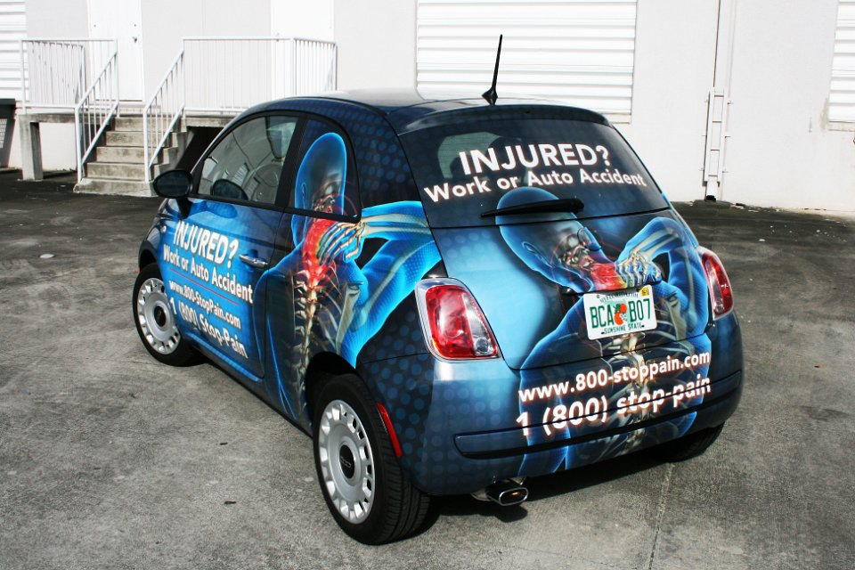 palm beach gardens fiat 500 car wrap