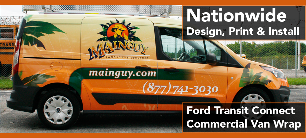 Ford Transit Connect van vinyl vehicle wrap Miami, Davie, Fort Lauderdale, West Palm Beach, Boca Raton, Florida