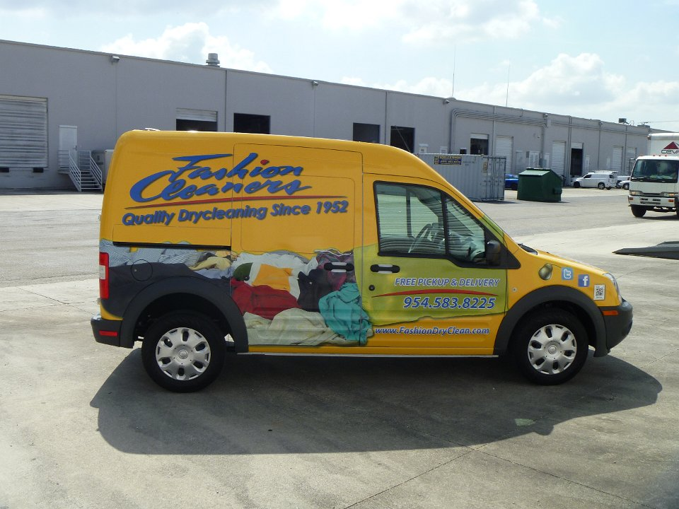 Ford Transit Connect >> Fashion Cleaners Ford Transit Connect Van Wrap