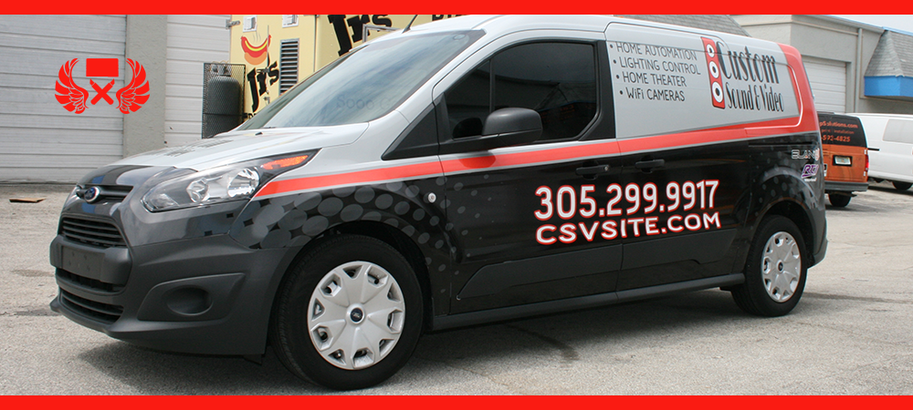 Ford transit transit connect vans wraps graphics lettering
