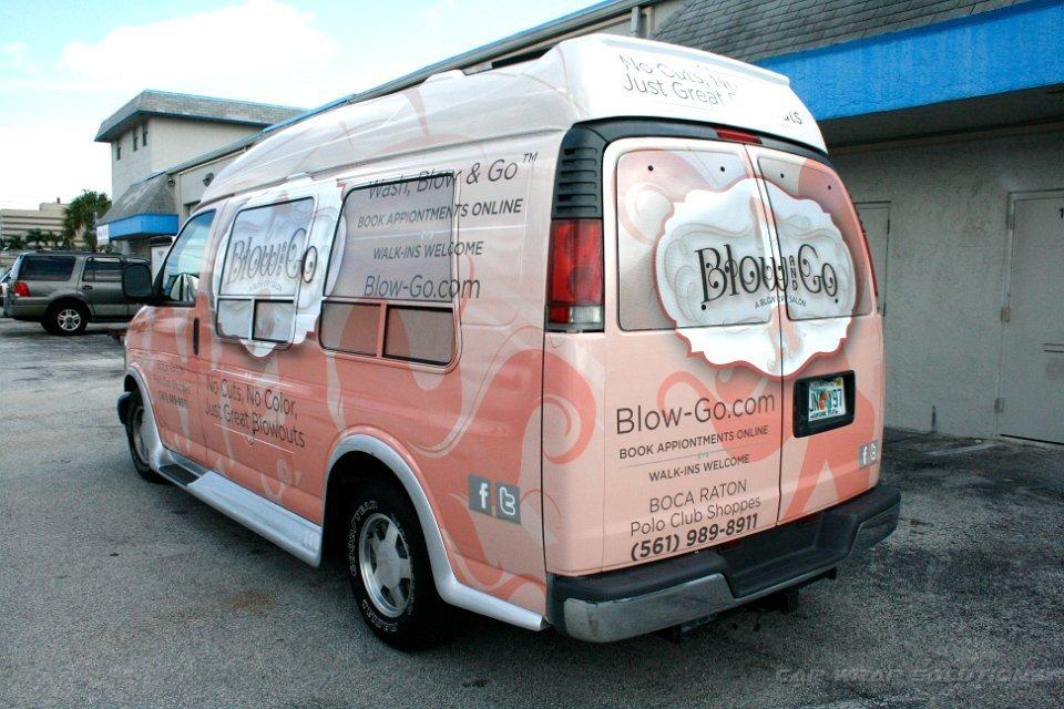 Boca Raton Florida Vehicle Wrap Advertisement Blow Go