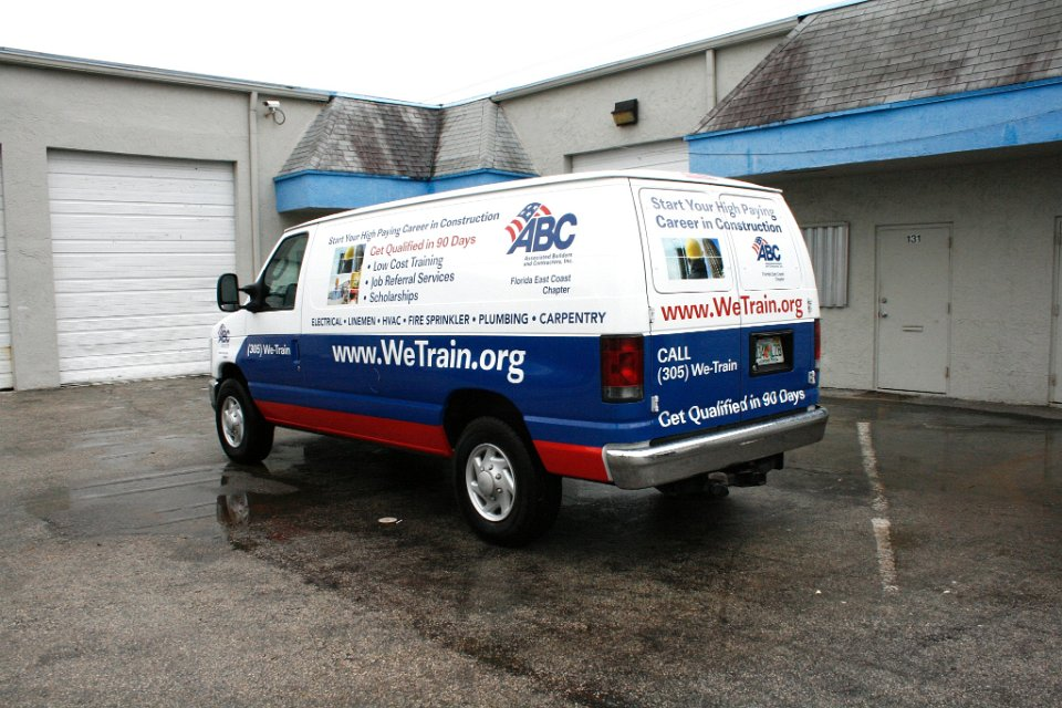 Cargo Van 3m Vinyl Vehicle Wrap Doral Florida