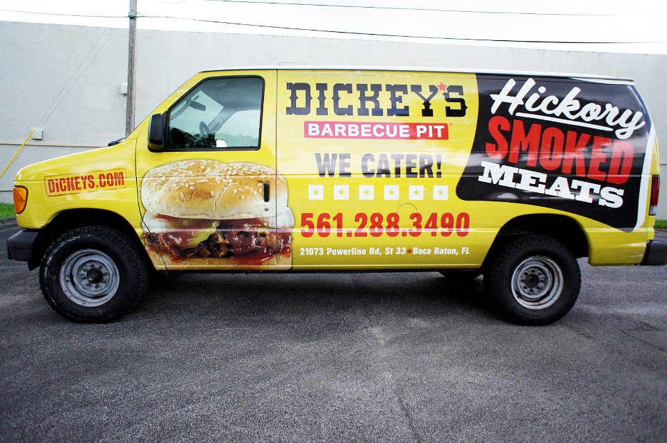 Dodge Commercial Van >> Dickys BBQ Vehicle wrap Boca Raton Florida