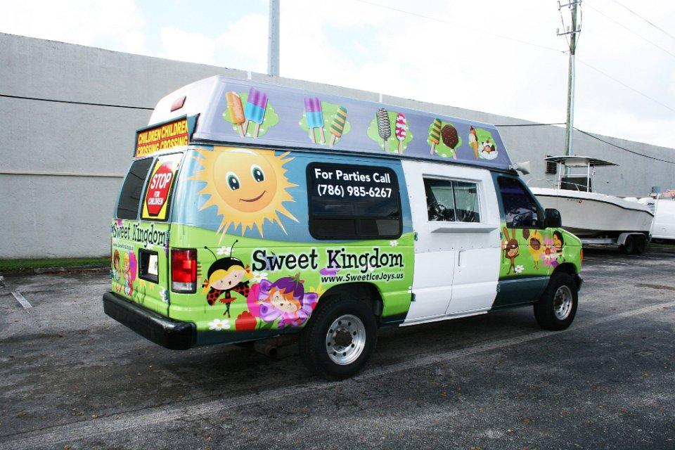 Miami Used Chevrolet >> Ice cream truck car wrap miami florida