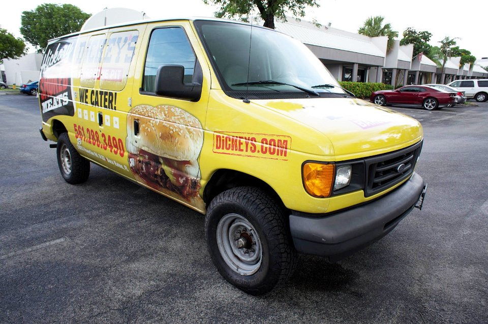 Dodge Commercial Van >> Restaurant vehicle wrap Boca Raton Florida
