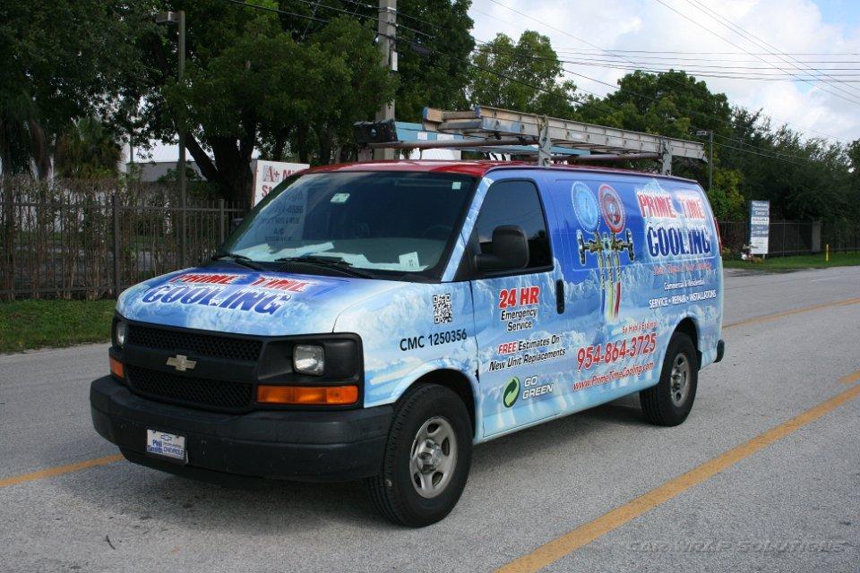 Air Conditioning Car Wrap Davie Florida