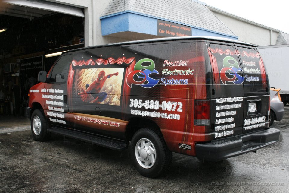 Audio Visual Small Business Vehicle Wrap